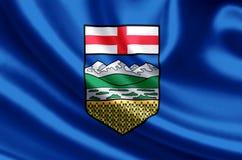 Απεικόνιση σημαιών Αλμπέρτα διανυσματική απεικόνιση