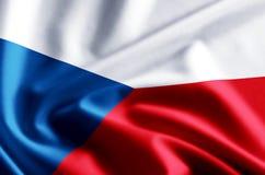 Απεικόνιση σημαιών Δημοκρατίας της Τσεχίας διανυσματική απεικόνιση