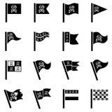Απεικόνιση σημαιών πειρατών για το σχέδιο στο άσπρο υπόβαθρο Στοκ φωτογραφία με δικαίωμα ελεύθερης χρήσης