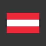 Απεικόνιση σημαιών της Αυστρίας απεικόνιση αποθεμάτων