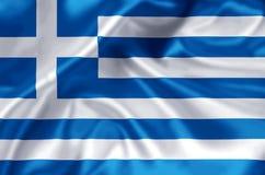 Απεικόνιση σημαιών της Ελλάδας ελεύθερη απεικόνιση δικαιώματος