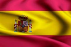 Απεικόνιση σημαιών της Ισπανίας διανυσματική απεικόνιση