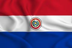 Απεικόνιση σημαιών της Παραγουάης ελεύθερη απεικόνιση δικαιώματος