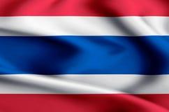 Απεικόνιση σημαιών της Ταϊλάνδης ελεύθερη απεικόνιση δικαιώματος