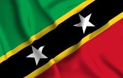 Απεικόνιση σημαιών St. Kitts and Nevis απεικόνιση αποθεμάτων