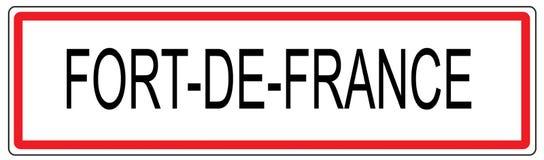 Απεικόνιση σημαδιών κυκλοφορίας πόλεων του Fort de France στη Γαλλία Στοκ φωτογραφία με δικαίωμα ελεύθερης χρήσης