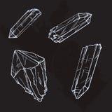 Απεικόνιση σκίτσων πολύτιμων λίθων κρυστάλλου Στοκ Εικόνες