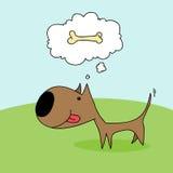 απεικόνιση σκυλιών σχεδίου κινούμενων σχεδίων ανασκόπησης Στοκ Εικόνες