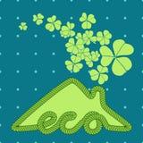 Απεικόνιση σπιτιών Eco με το τριφύλλι ελεύθερη απεικόνιση δικαιώματος