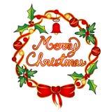 Απεικόνιση στεφανιών Χριστουγέννων Στοκ εικόνες με δικαίωμα ελεύθερης χρήσης