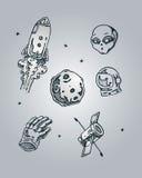 απεικόνιση στοιχείων σχεδίου διαστημική εσείς Στοκ Εικόνες