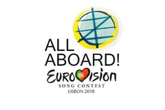 Απεικόνιση στον άσπρο διαγωνισμό 2018 Λισσαβώνα τραγουδιού Eurovision υποβάθρου ελεύθερη απεικόνιση δικαιώματος