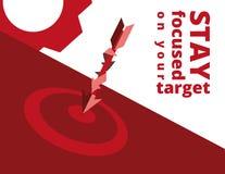 Απεικόνιση στόχων μάρκετινγκ Στοκ εικόνα με δικαίωμα ελεύθερης χρήσης
