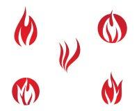 Απεικόνιση συμβόλων πυρκαγιάς στοκ εικόνα