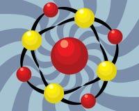 Απεικόνιση συμβόλων μορίων Στοκ Φωτογραφίες