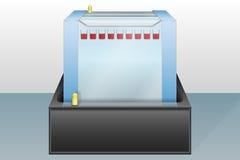 Απεικόνιση συσκευών ηλεκτροφόρησης πηκτωμάτων Στοκ εικόνες με δικαίωμα ελεύθερης χρήσης