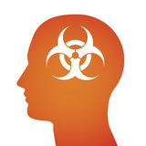 Απεικόνιση σχετική με το βιολογικό κίνδυνο Στοκ εικόνες με δικαίωμα ελεύθερης χρήσης