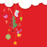 Απεικόνιση σχεδίου διακοσμήσεων Χριστουγέννων Στοκ Εικόνες