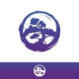Απεικόνιση σχεδίου λογότυπων μπονσάι Στοκ Φωτογραφία