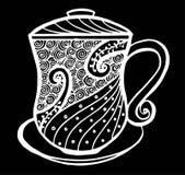 Απεικόνιση σχεδίων φλυτζανιών καφέ Στοκ φωτογραφία με δικαίωμα ελεύθερης χρήσης
