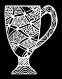 Απεικόνιση σχεδίων φλυτζανιών Στοκ Εικόνες