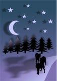 Απεικόνιση σχεδίων λύκων Στοκ φωτογραφία με δικαίωμα ελεύθερης χρήσης