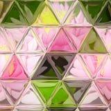 Απεικόνιση σύνθεσης κρίνων με λεκιασμένο το τρίγωνο υπόβαθρο γυαλιού Στοκ Εικόνες