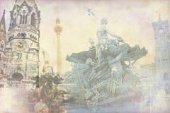 Απεικόνιση σύστασης τέχνης του Βερολίνου Στοκ φωτογραφίες με δικαίωμα ελεύθερης χρήσης