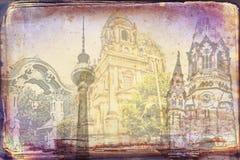 Απεικόνιση σύστασης τέχνης του Βερολίνου Στοκ Φωτογραφία