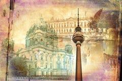Απεικόνιση σύστασης τέχνης του Βερολίνου Στοκ εικόνα με δικαίωμα ελεύθερης χρήσης