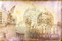 Απεικόνιση σύστασης τέχνης του Βερολίνου Στοκ φωτογραφία με δικαίωμα ελεύθερης χρήσης