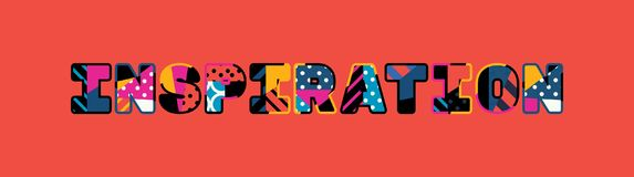 Απεικόνιση τέχνης του Word έννοιας έμπνευσης διανυσματική απεικόνιση