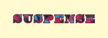 Απεικόνιση τέχνης του Word έννοιας αγωνίας διανυσματική απεικόνιση