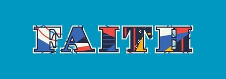 Απεικόνιση τέχνης του Word έννοιας πίστης απεικόνιση αποθεμάτων