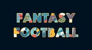 Απεικόνιση τέχνης του Word έννοιας ποδοσφαίρου φαντασίας διανυσματική απεικόνιση