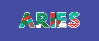 Απεικόνιση τέχνης του Word έννοιας Aries ελεύθερη απεικόνιση δικαιώματος