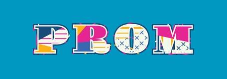 Απεικόνιση τέχνης του Word έννοιας Prom ελεύθερη απεικόνιση δικαιώματος