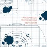 απεικόνιση τεχνική σχέδιο μελάνι λεκέδες απεικόνιση αποθεμάτων