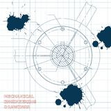 απεικόνιση τεχνική σχέδιο μελάνι λεκέδες ελεύθερη απεικόνιση δικαιώματος