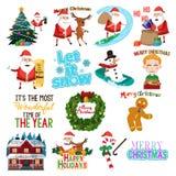 Απεικόνιση τεχνών συνδετήρων Χριστουγέννων διανυσματική απεικόνιση