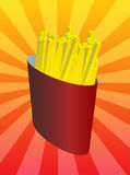 απεικόνιση τηγανιτών πατατ Στοκ εικόνες με δικαίωμα ελεύθερης χρήσης