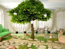 Απεικόνιση της έννοιας του σπιτιού eco Στοκ Εικόνα