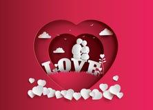 Απεικόνιση της αγάπης και της ημέρας βαλεντίνων ` s απεικόνιση αποθεμάτων