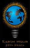 Απεικόνιση της γήινης ώρας Στοκ εικόνα με δικαίωμα ελεύθερης χρήσης