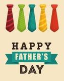 Απεικόνιση της ευτυχούς ημέρας πατέρων Στοκ Εικόνες