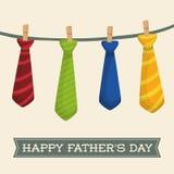 Απεικόνιση της ευτυχούς ημέρας πατέρων Στοκ εικόνα με δικαίωμα ελεύθερης χρήσης