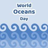 Απεικόνιση της ημέρας παγκόσμιων ωκεανών Στοκ φωτογραφία με δικαίωμα ελεύθερης χρήσης