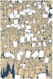 Απεικόνιση της διαμαρτυρίας του πλήθους από την υψηλή άποψη γωνίας Στοκ Εικόνες