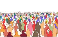 Απεικόνιση της μεγάλης μάζας των ανθρώπων στην προοπτική Στοκ Φωτογραφίες