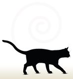 απεικόνιση της σκιαγραφίας γατών Στοκ Εικόνα